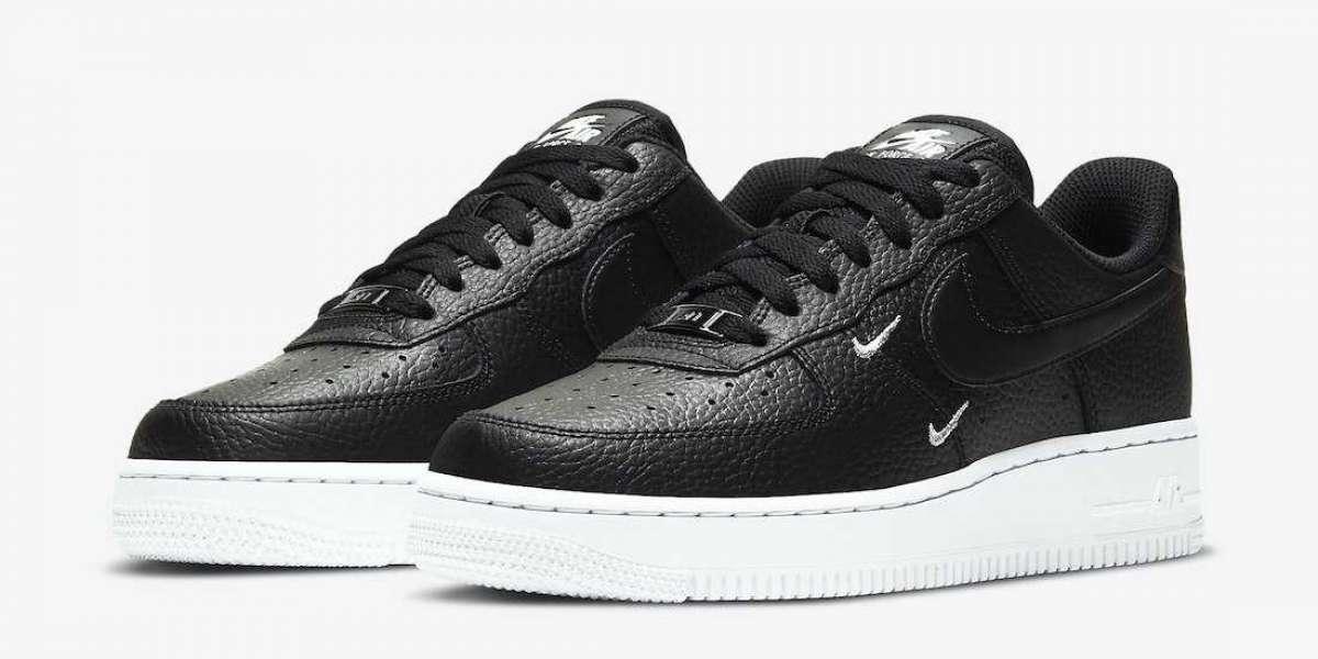 2020 Nike Air Force 1 Low Black White Metallic Silver Coming Soon