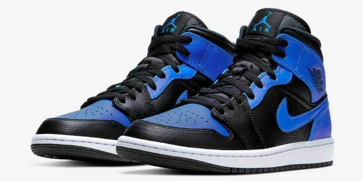 554724-077 Air Jordan 1 Mid Hyper Royal is Available Now