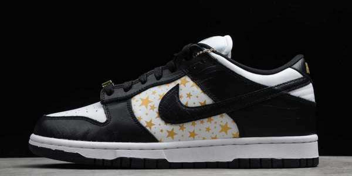 Supreme x Nike SB Dunk Low Stars DH3228-102 Hot Sell
