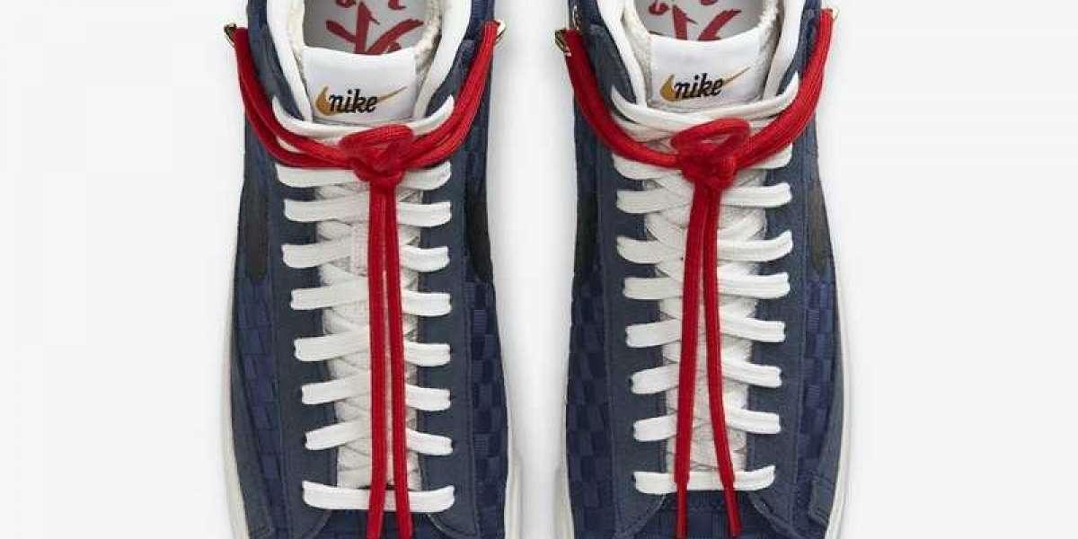 """Nike Blazer Mid 77 """"Sashiko"""" Navy Blue 2021 New Arrival DD5486-492"""