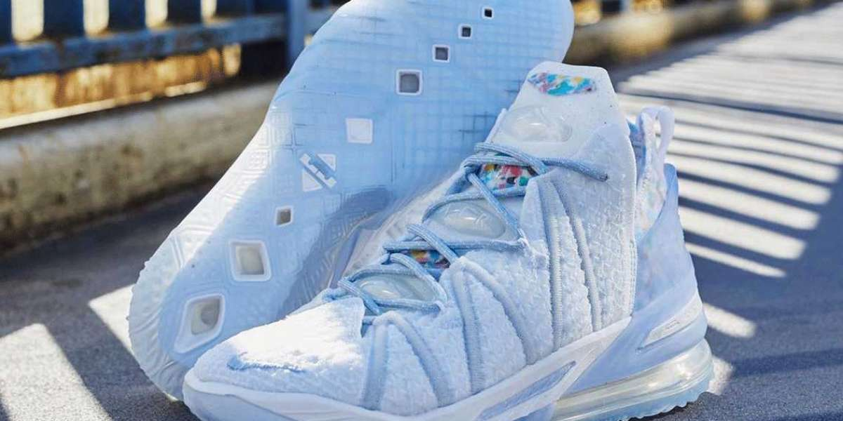 """Nike LeBron 18 NRG GS """"Blue Tint"""" CW3156-400 2021 New Released"""