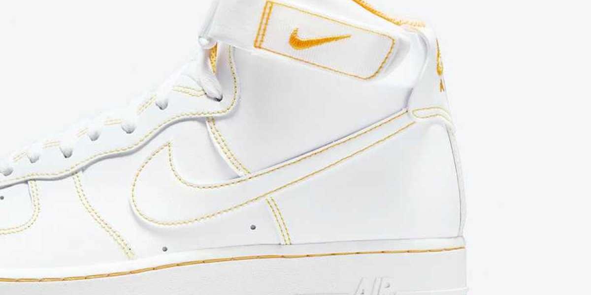 "Nike Wmns Air Force 1 High ""Laser Orange"" 2021 New Arrival CV1753-107"