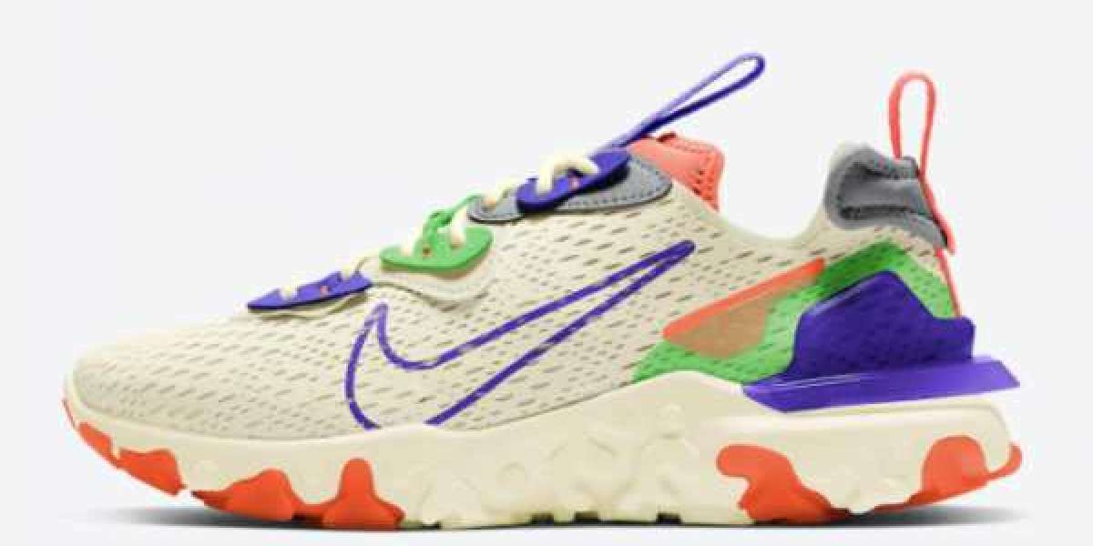 Nike React Vision Beige/Green-Purple-Coral 2021 New Arrival CI7523-104