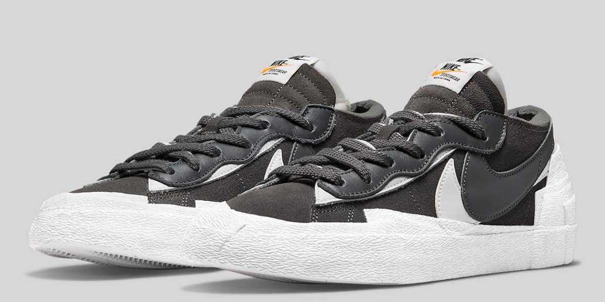 "sacai x Nike Blazer Low ""Iron Grey"" DD1877-002 will be released on August 4th"