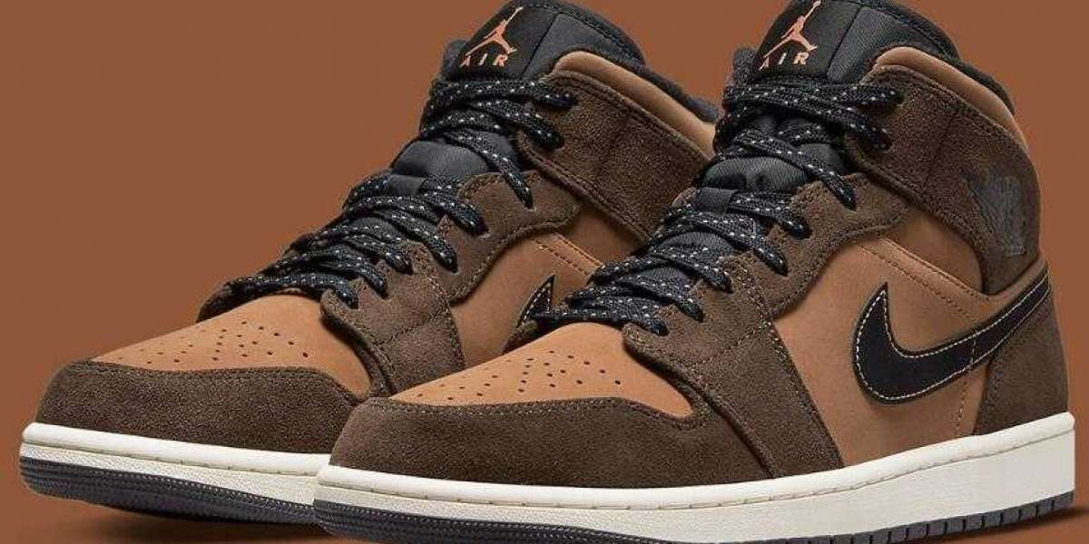 2021 Air Jordan 1 Mid Coming With Earthy Brown Color Scheme